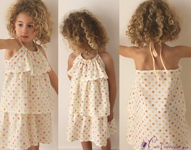 patron couture gratuit robe fille 3 ans