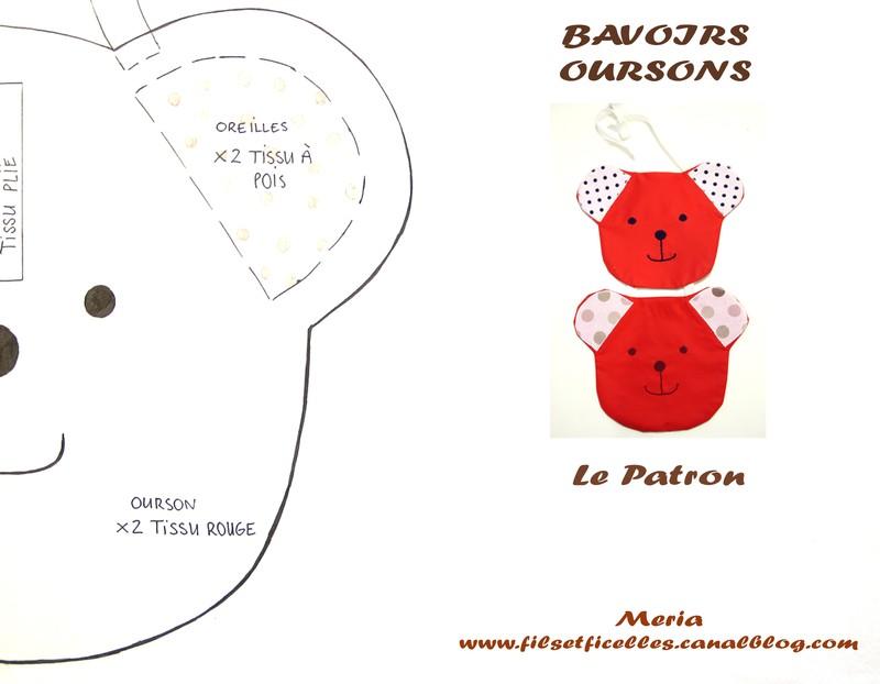patron couture ourson