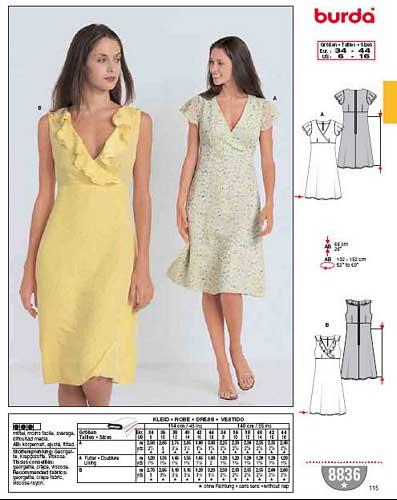 patron couture gratuit burda robe 18