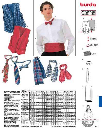 patron couture lavallière