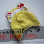 patron couture gratuit bonnet bébé