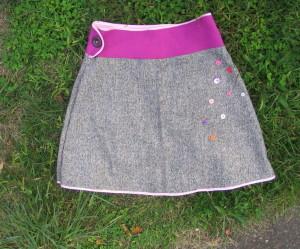 couture facile jupe fillette